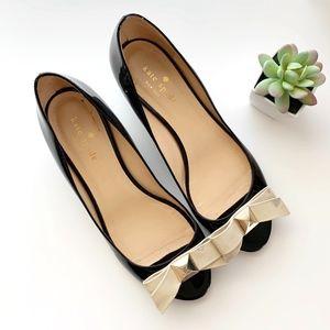 kate spade Shoes - SOLD*Kate Spade •Theresa Black Peep Toe Wedges